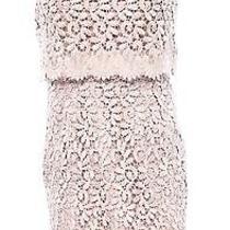 Betsy & Adam New Pink Blush Womens 8 Popover Crochet-Lace Sheath Dress 219 259 Photo
