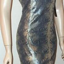 Betsy & Adam New Silver Gold Sequin Dress Sz 6                      (H29 Photo