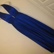 Betsy & Adam Sexy Elegant Stretch Evening Prom Electric Blue Drape Dress Size 4 Photo