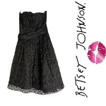 Betsy Johnson Black Tulle Strapless Vintage Style  Party Dress Sz 2 Photo