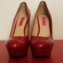 Betsy Johnson Dita Blush Patent Leather Platform High Heel Pumps Us Size 7.5 Photo