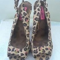 Betsy Johnson Leopard Print Platform Heels  Photo