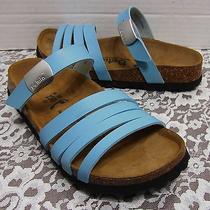 Betula Birkenstock Blue Sandals Shoes Flip Flops  Buckle Womens Size 5 Us 36 Eu  Photo