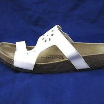 Betula by Birkenstock Birkoflor Womens Sandals Slides 38 7 White Comfort Shoes Photo