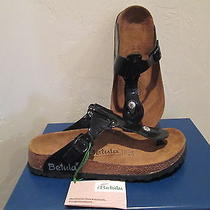 Betula by Birkenstock 'Rap' Black Patent Sandals Womens Shoes Sz 6 M New  Photo
