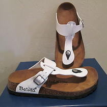 Betula by Birkenstock 'Rap' White Patent Sandals Womens Shoes Sz 6 M New  Photo