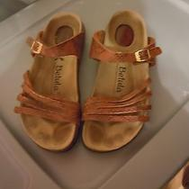 Betula by Birkenstock Sandals Size 9 Brown Snake Print Leather Photo