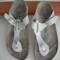 Betula by Birkenstock White Gizeh Thong Sandals Size 39 / 8   Photo