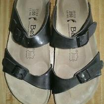 Betula Sandal Size 39 Euc L8 M6 Original Birkenstock Fussbett Black  Photo