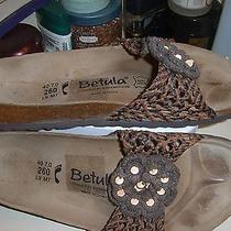 Betula Womens Birkenstock Brown Flower Crochet L9 Photo