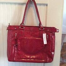 Beuno Red Croc Embossed Leather Purse/handbag New Photo