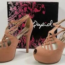 bg) Qupid Women Opened Toe Blush Platform High Heels Shoes Nubuck Penelope 10 Photo