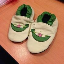 Bibi and Mimi - Infants' Sweet Pea Booties 6-12 Months Green  Leather  Photo