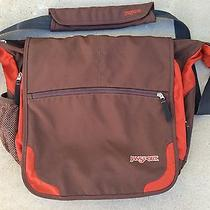 Bicycle Messenger Bag Jansport Orange Brown Backpack Purse Elefunk Photo