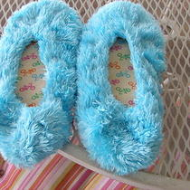 Bicycles Inside Light Aqua Fuzzy Slippers Womens Sz M No Tags Photo