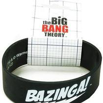 Big Bang Theory Bazinga Black Rubber Bracelet Photo
