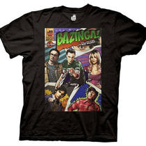 Big Bang Theory Bazinga Comic Book Cover Short Sleeve T-Shirt Photo