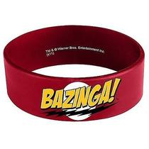 Big Bang Theory Bazinga Red Rubber Bracelet Photo
