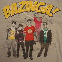 Big Bang Theory Bazinga Sheldon Cooper Leonard Penny Tv Show T Shirt M Photo