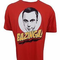 Big Bang Theory Bazinga T-Shirt Size Xl Sheldon Cooper Funny Novelty Tv Show Photo