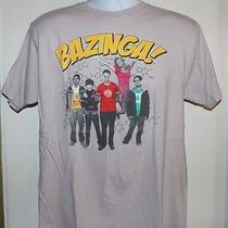 Big Bang Theory Bazinga Tee Shirt L Gray 100% Cotton Tv Show Short Sleeve Photo
