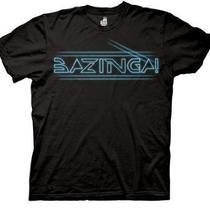 Big Bang Theory Bazinga Tron Type Glowing Mens Tee (Medium) Photo