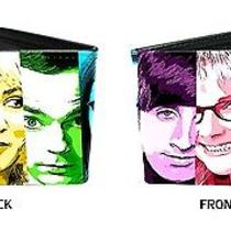Big Bang Theory Cbs Comedy Tv Show Face Slices Characters Bi-Fold Wallet Photo