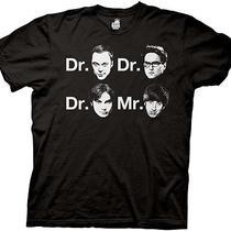Big Bang Theory -Dr. & Mr. Faces Mens - T Shirt- Tv Show- Authentic- Medium Photo