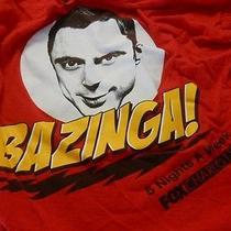 Big Bang Theory Fox Tv Charlotte Red Sheldon  Bazinga  T Shirt Adult Medium Photo