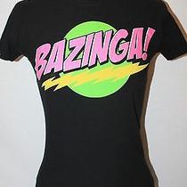 Big Bang Theory Funny Comedy Tv Show Nerd Sitcom Bazinga Crew T-Shirt Womens S Photo