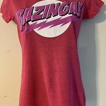 Big Bang Theory Ladies Small Bazinga Tshirt Pink Photo