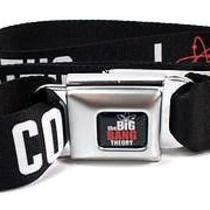 Big Bang Theory Licensed Seatbelt Buckle Belt - I Atom Coitus - Black Photo
