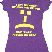 Big Bang Theory Others Are Stupid Emoticon Juniors Tee (Medium) Photo