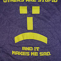 Big Bang Theory Others Are Stupid Emoticon Purple T-Shirt Small Ripple Junction Photo