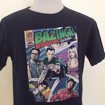 Big Bang Theory T-Shirt Comic Strip Adult Medium Tv Show Bazinga Mind Bullets Photo