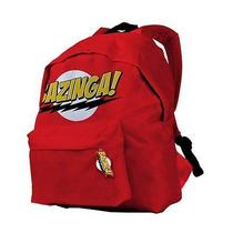 Big Bang Theory Tv Officially Licensed Nwt Bazinga Red Backpack School Bag Photo