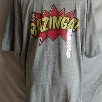 Big Bang Theory Tv Show Bazinga Tshirt Nwt Gray Short Sleeve Athletic Fit Xxl Photo