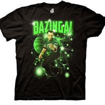 Big Bang Theory Tv Show Sheldon Bazinga Stars Men's T-Shirt Black Xxl 2xl New Photo