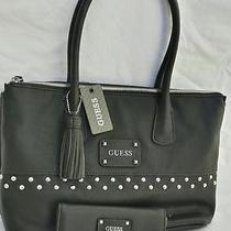 Big  Guess Handbag Black Bag And/or Wallet Buy as Set or Pieces Woman Gift  Photo