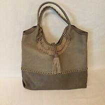 Big Hobo Style Bag. Spacious Purse. Faux Leather. Gray Purse.  Photo