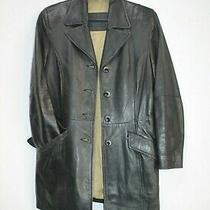 Big L Sweden Black Leather Jacket Lamb Skin Cafe Racer Womens Size 38 Uk 10 12 M Photo