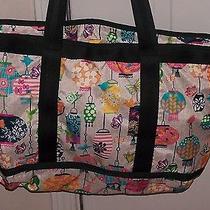 Big Sale Lesportsac Travel Tote No Pouch Carryon Shopper Bag Lanterns Photo