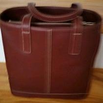 Big Sale New With Tags  Coach Hamptons Gallery Leather Book Tote Burgundy  Photo
