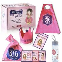 Big Sister Gift Set for Toddler Girls - 6-Pieces Princess Set Costume Bottle Photo