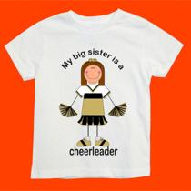 Big Sister Is a Cheerleader Shirt Design With Your Choice Words Name and Colors Photo