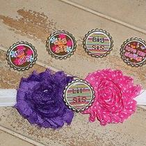 Big Sister Little Sister Baby Infant Headband You Pick Bottle Cap Photo