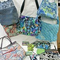 Big Vera Bradley 14pc Repair Craft Lot Purses Wallets Retired Bermuda Blue (Are Photo