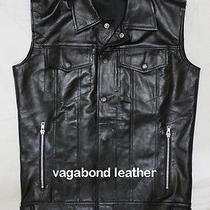 Biker Custom Made Leather Vest Lanvin Maxwell Style Recreated Jacket Urban Men Photo