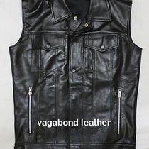 Biker Custom Made Leather Vest Lanvin Maxwell Style Recreated Jacket Urban Men Photo
