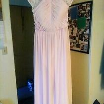 Bill Levkoff Dress - Floor Length - Size 16 - Blush Pink - Pre Owned - Mesh Photo